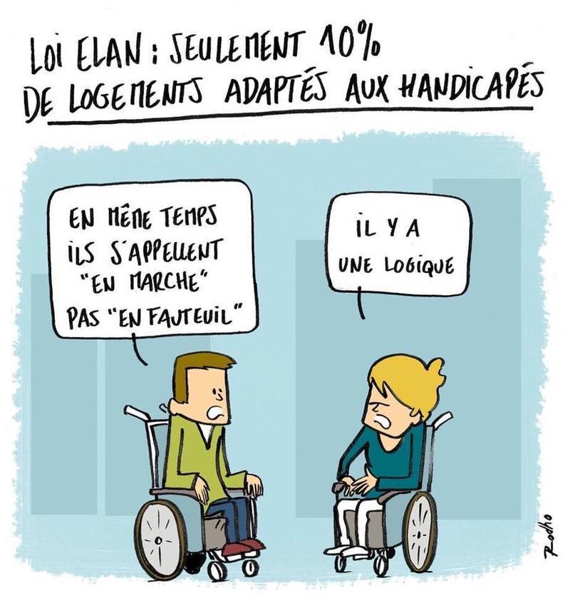 Loi ELAN - Vue par un Insoumis Handicapé