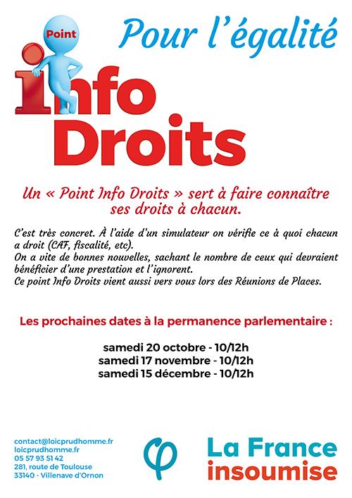 Aide & soutien à la Permanence Parlementaire du député France Insoumise Loïc Prudhomme