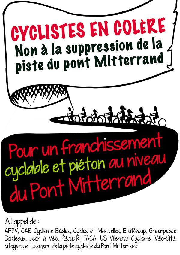 piste cyclable au pont Mitterrand